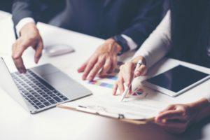 Consultation of businessmen. For business success